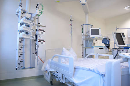 surgical care: Intensive care unit and trauma care unit of a hospital Stock Photo