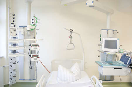 Intensive care unit and trauma care unit of a hospital Foto de archivo