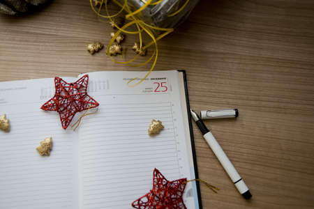 December agenda calendar with focus on 25th, Christmas Day