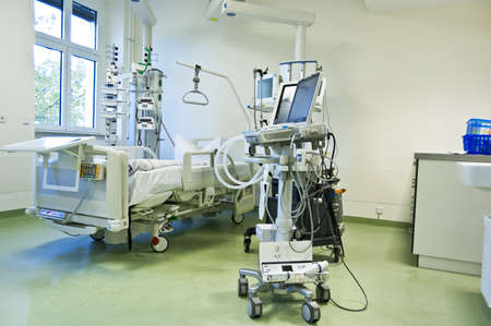 intensive: Intensive care unit and trauma care unit of a hospital Stock Photo
