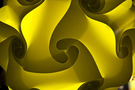 lamp shade: An illuminated light lamp shade with moddern folded texture