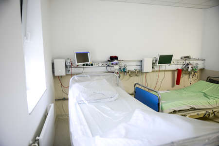 Intensive care unit and trauma care unit of a hospital's emergency department.