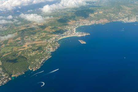 View of the skyline island of Palma de Mallorca