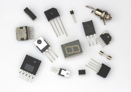 components: radio components Stock Photo