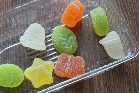 fruit jelly: fruit jelly Stock Photo
