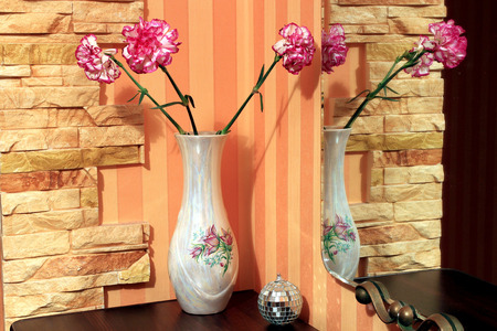 carnations: carnations in a vase