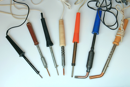 soldering: a collection of soldering irons