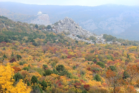 Crimean mountains in autumn