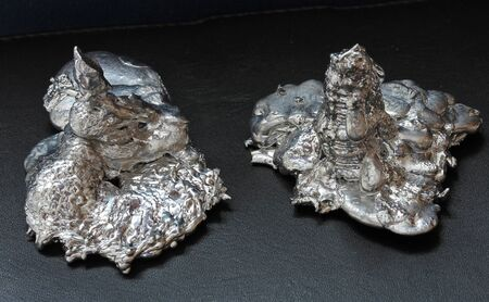 a drop of molten metal Stock Photo