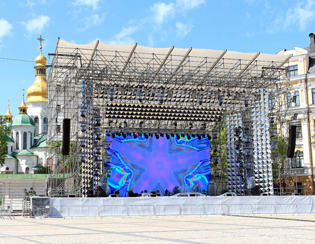 the construction of the stage for Eurovision-2017 in Kiev