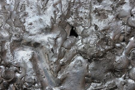 incredible landscape of molten metal Фото со стока