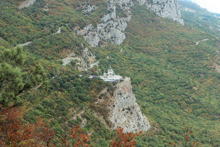 Foros Church in the Crimean Mountains