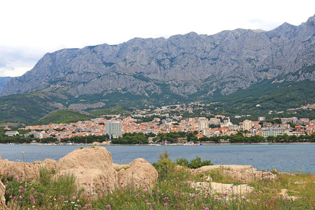 Biokovo mountains near the Makarska Riviera Stok Fotoğraf