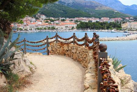 love alley in the park of Makarska