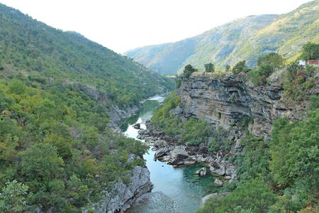 canyon of the river Tara in Montenegro