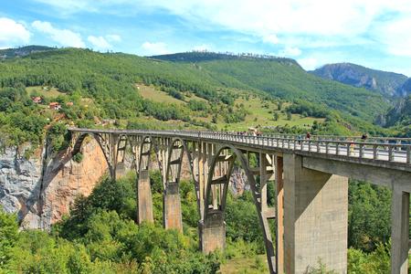 Dzhurdzhevich bridge in the canyon of the river Tara in Montenegro