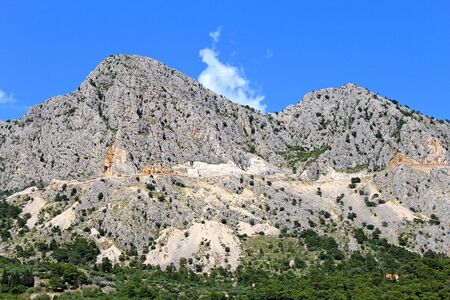 Croatia. Serpentine road on the Makarska Riviera