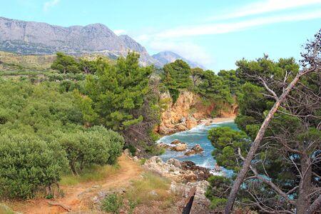 picturesque bay on the Adriatic coast 版權商用圖片