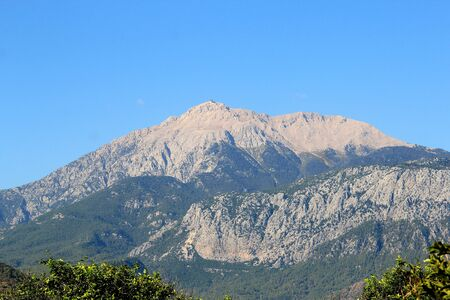 view of Mount Tahtaly from the side of Kemer Фото со стока