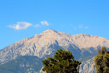 view of Mount Tahtali from the side of Kemer
