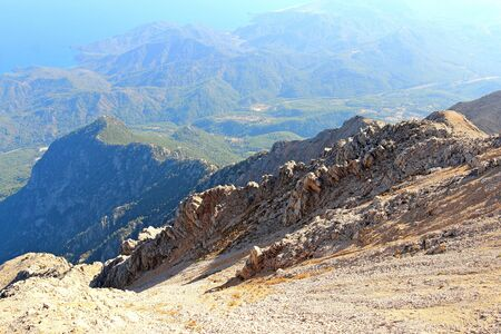 view from mount Tahtali in Turkish in the near area
