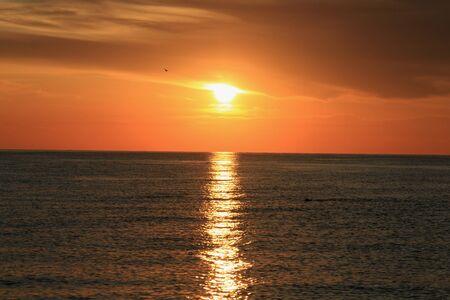Sunrise on the Mediterranean Sea in Turkey