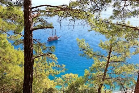 View of the azure lagoon of the Mediterranean Sea
