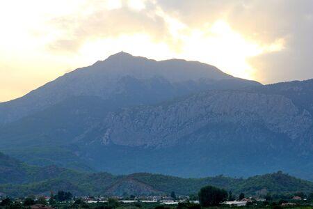 Night view of Tahtala mountain