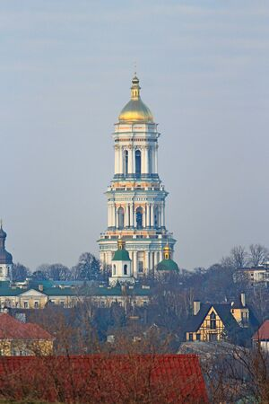 Pechersky monastery on a hill in Kiev