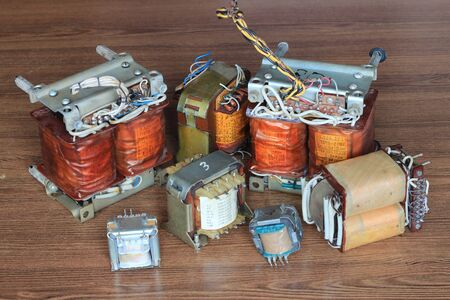 collection of transformers for the electrical industry
