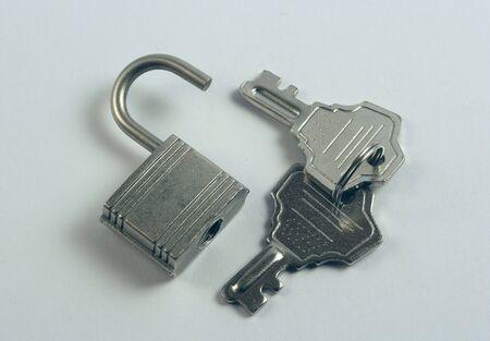 set of small lock and keys