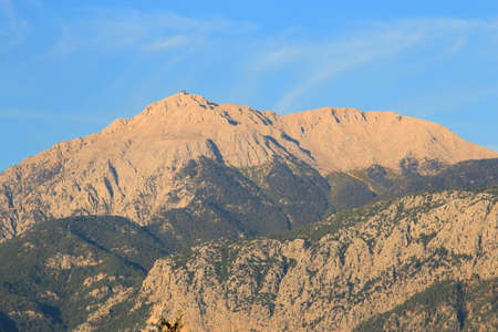 view of Tahtali mountain in Turkey near Kemer Banco de Imagens