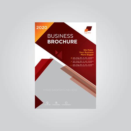 Business brochure company template maroon
