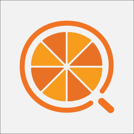 fruit orange simple logo flat design Ilustração