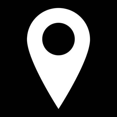 location place icon vector isolated with background simpel smooth eps 10 maps ios android apps apk Illustration