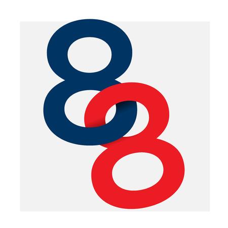 number illustration isolated logo_eight