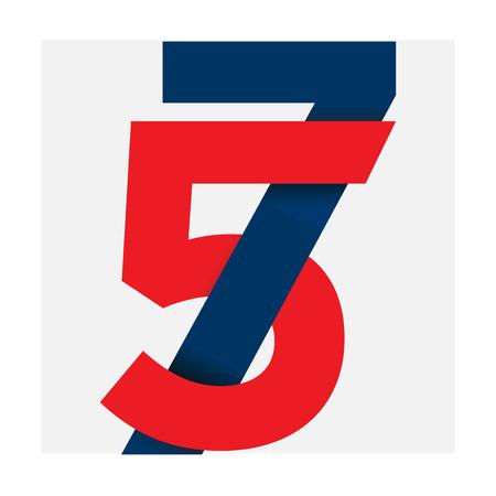 nummer abbildung isoliert logo_five sieben