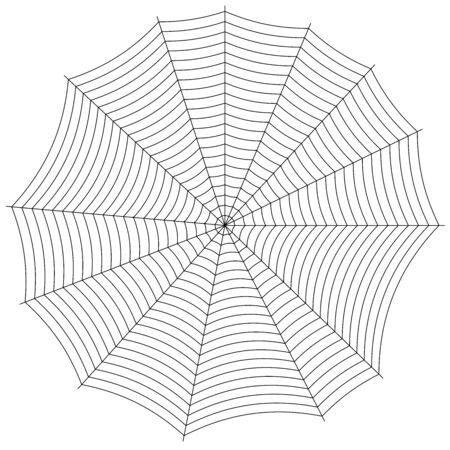 seamless pattern spiderweb isolated in white background