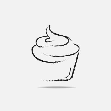cupcake isolated white background-03