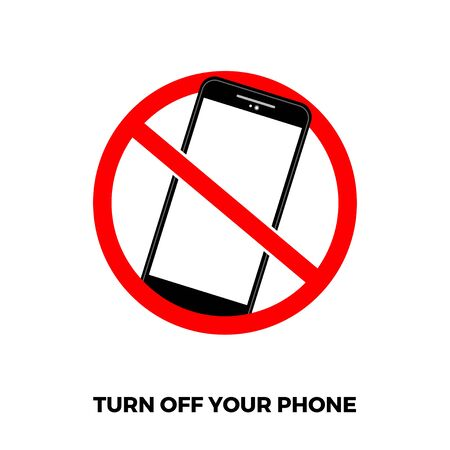 illustration turning off smartphone isolated-07