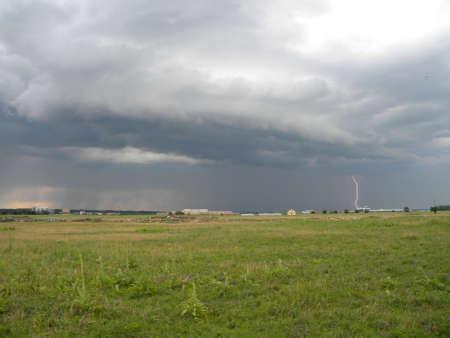 A lightning on under the couds  Reklamní fotografie