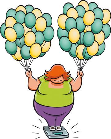 脂肪の女性
