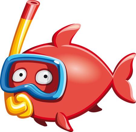 Diver fish Stock Illustratie