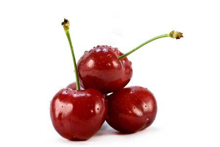 threesome: threesome of cherries  Stock Photo