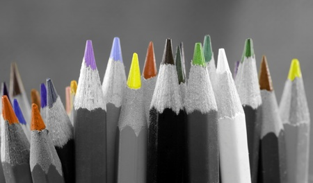 sharpened: sharpened colored pencils