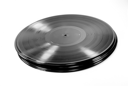 a stack of lp record Stock Photo