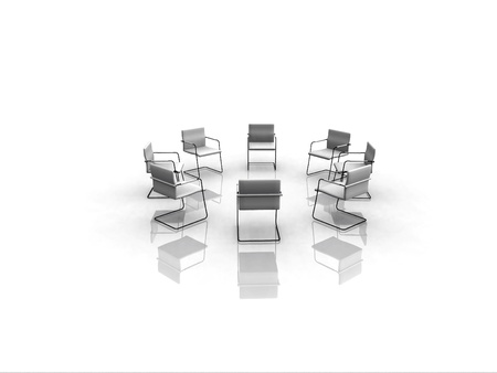 round chairs: chairs in circle