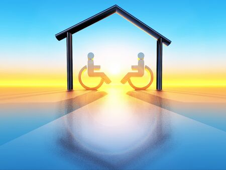house and handicap Stock Photo