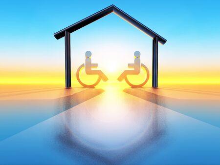 house and handicap Stock Photo