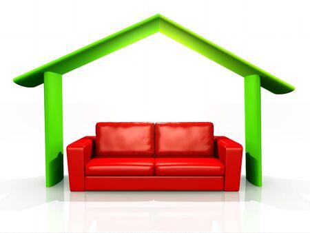 illustration of home comfort Stock Illustration - 9842870